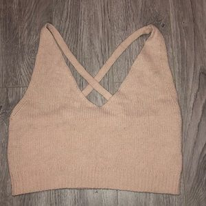 Forever 21 pink crop top